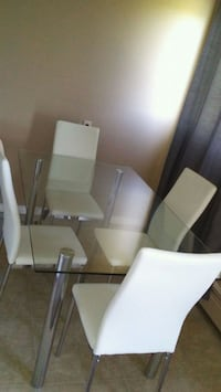 rectangular glass top table with six chairs dining Burnaby, V5A