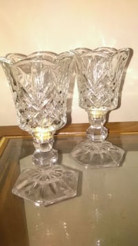 Two styled clear candle holders Oxon Hill, 20745