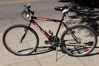 red and black hardtail mountain bike 786 km