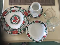 Christmas fine China, deck the hall pattern by Teimshen Hobe Sound, 33455