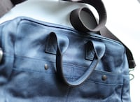 Genuine Leather Bag, Unisex, Dark Blue, Like New Toronto
