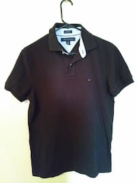Black Tommy Hilfiger polo shirt
