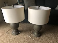 Two white-and-gray table lamps North Chesterfield, 23234
