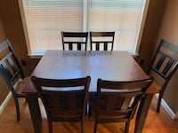 All wood table and six chairs Newport News, 23603