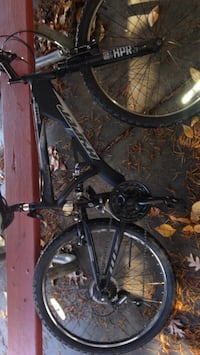black and gray full-suspension bike 24 mi