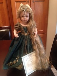 Rapunzel Porcelain Doll with certificate Mississauga