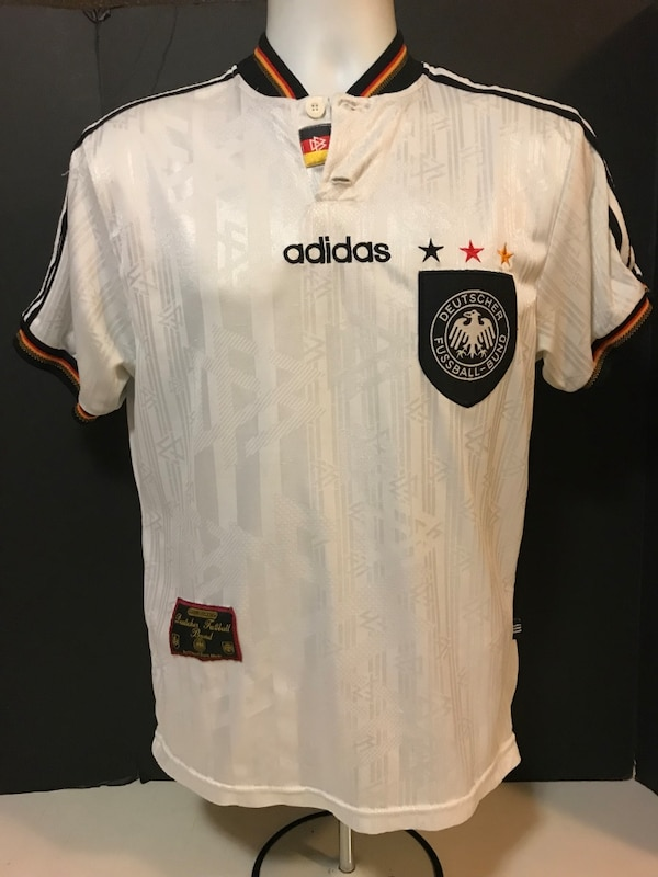 pretty nice 716b5 2247c Vintage Adidas Germany Deutschland Football Shirt Jersey Trikot 1996-1997  Home S