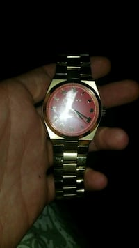 Michael Kors mens wrist watch w/ red face Round Hill, 20141