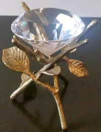 Glass Jewel on Gold Pedestal Kitchener, N2A 2P6