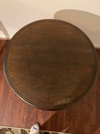 Price Negotiable - Solid Wood Rotating End Table Chantilly