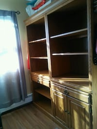 brown wooden cabinet with shelf Cliffside Park, 07010
