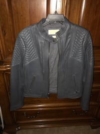 Michael Kors Gray Leather Jacket Warrenton, 20186
