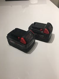 Milwaukee M18 two batteries used