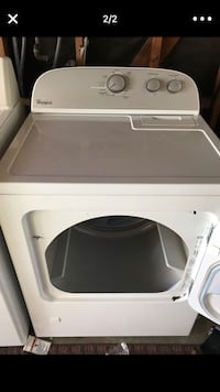 White front-load clothes washer and gas dryer in perfect condition Vista, 92081