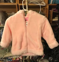 Girls Pink Faux Fur Coat Size 4T ~ Casual Time Marlborough, 18054