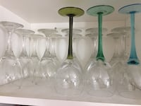 11+3 wine glasses ... new as they were only displayed in cupboard Toronto, M1B