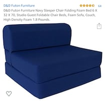 Single fold out chair futon