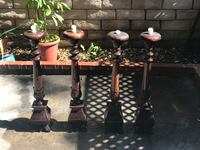 Solid Wood ,Tall, Hand Carved Candle Stands Burbank, 91505