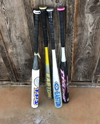 4 bats 20.00 each 4 for $65.00 Maysville, 73057