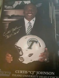 coach of Tulane autograph picture Tampa, 33616