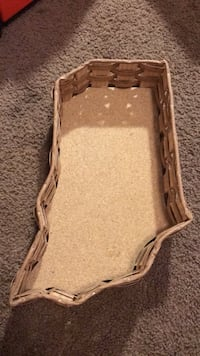 Vine Tique Indiana Shaped Cork Bottomed Tray with Wicker Rattan Walls