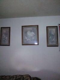 three brown fame with painting wall decor Fort Smith, 72901