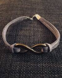 Gunmetal and suede infinity bracelet Toronto, M6H