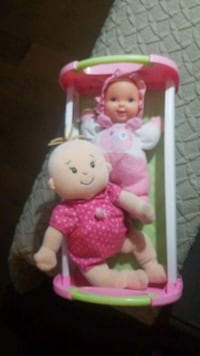 Fisher price crib and two dolls Vancouver, V5T 4S8
