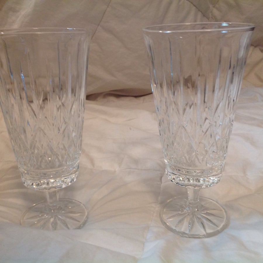 Crystal Water Pitcher & 4 Glasses 7acc35a0-a880-45ff-bfeb-4be3148bfd87