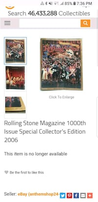 1000 issue ROLLING STONE MAG 545 km
