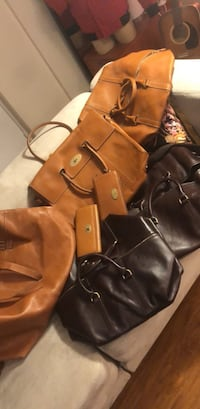 brown leather 2-way bag Ontario, M5M 1G2