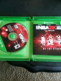 NBA 2K17 Xbox One game disc in case Palmdale, 93552