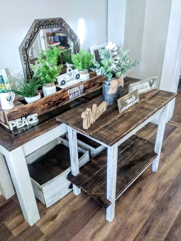 Rustic Farmhouse Entry Table 212c29c1-08f9-42af-83e2-c6f00fc61543
