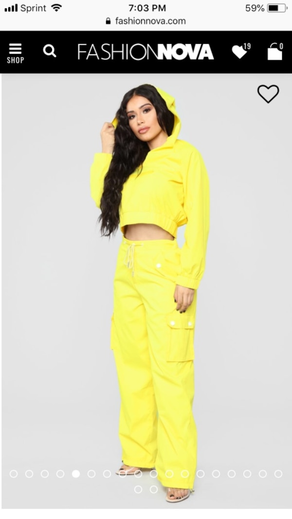 Girl On The Town Lounge Set - Yellow