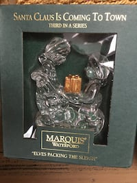 """Waterford Marquis Crystal """"Elves Packing The Sleigh"""" Chesapeake, 23322"""