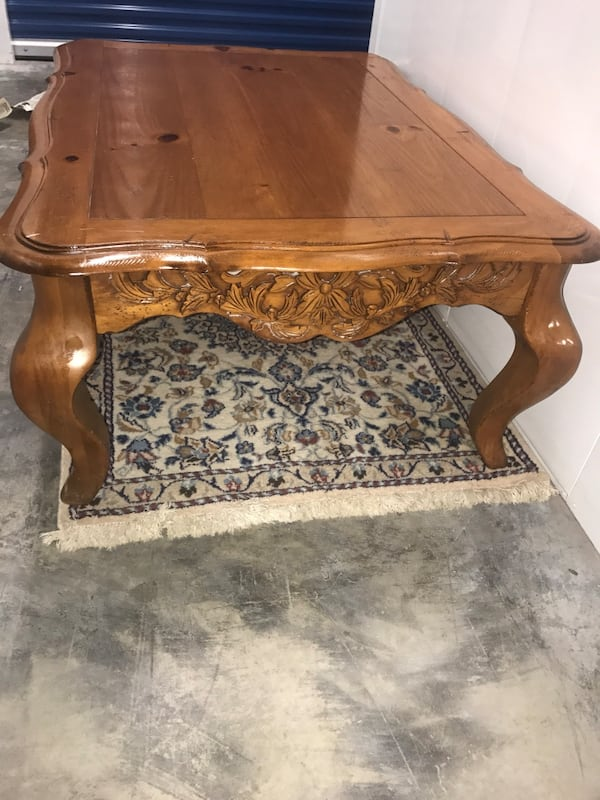 Large French Provincial Coffee Table and Side Table b287d874-d23e-474b-b8fe-a6828183fbad