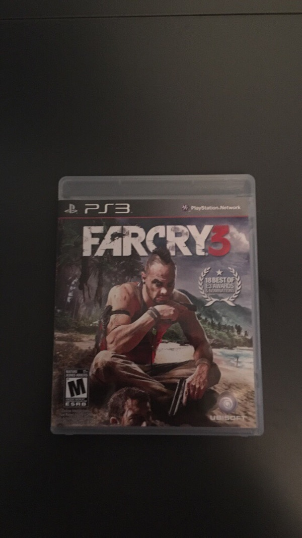 Farcry 3 PS3 game case