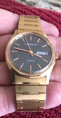 Vintage Men's Caravelle Watch.  Runs great.  New battery.  Great piece of the past.  Gold colored band with grey face.  Great piece of jewelry for the man in your life. Great Father's Day gift for dad  Fullerton, 92831