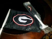 Brand new Georgia window car flags with pole  Phenix City