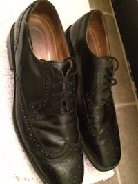 Men's Rockport Black Leather Shoes, used - Size 13 - $30  Mississauga