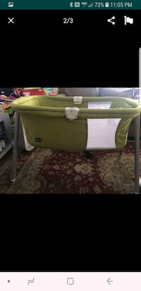 baby's white and green bassinet San Jose, 95126