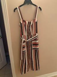 Brand new with tags striped linen & cotton dress size 4 Toronto, M6P 2K1
