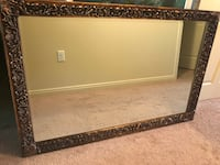 """Large mirror in Antique ornate frame 53"""" x 45"""""""