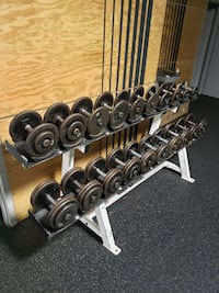 Body Masters 2 Tier Dumbbell Rack With Weights Baltimore