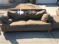 brown fabric 2-seat sofa Milpitas, 95035