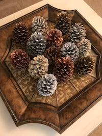 Pine cone 14 pieces for Christmas decorations  21 km