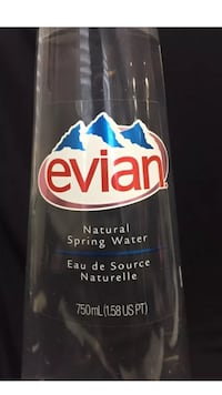 Collectable plastic Evian water bottle 2008