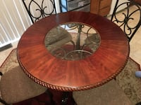 Mahogany and wrought iron dining room set in mint condition 74 mi