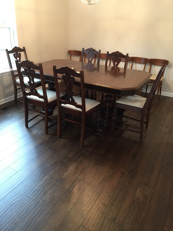 Dining Table With Six Chairs Antique Jacobean Best Offer