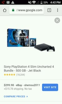 black Sony PS4 console with controller screenshot Farmersville, 93223